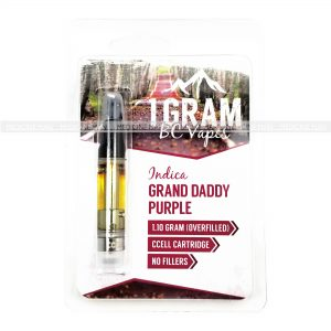 Grand Daddy Purple BC Vapes THC Distillate