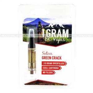 Green Crack BC Vapes THC Distillate Cartridge
