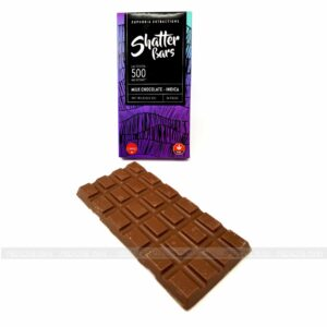 Euphoria Extractions Indica Shatter Milk Chocolate Bar