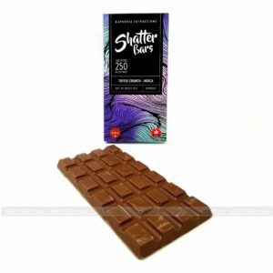 Indica Shatter Toffee Crunch Chocolate Bar 250mg Euphoria Extractions