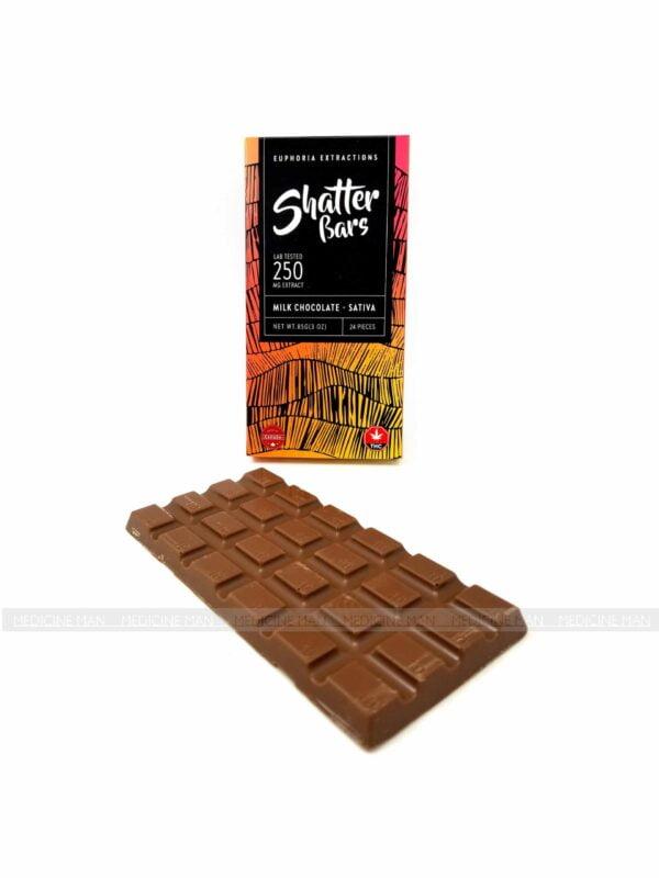 Sativa Shatter Milk Chocolate Bar 250mg