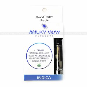 Grand Daddy Purple THC Distillate Cartridge Milky Way Extracts