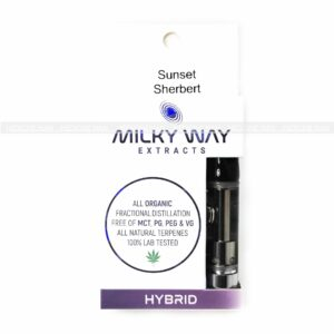 Sunset Sherbert Milky Way Extracts Cartridge