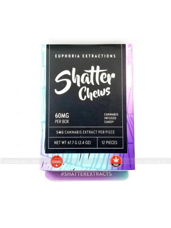 Indica Shatter Chews 60mg Euphoria Extractions