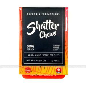 Sativa Shatter Chews 60mg Euphoria Extractions