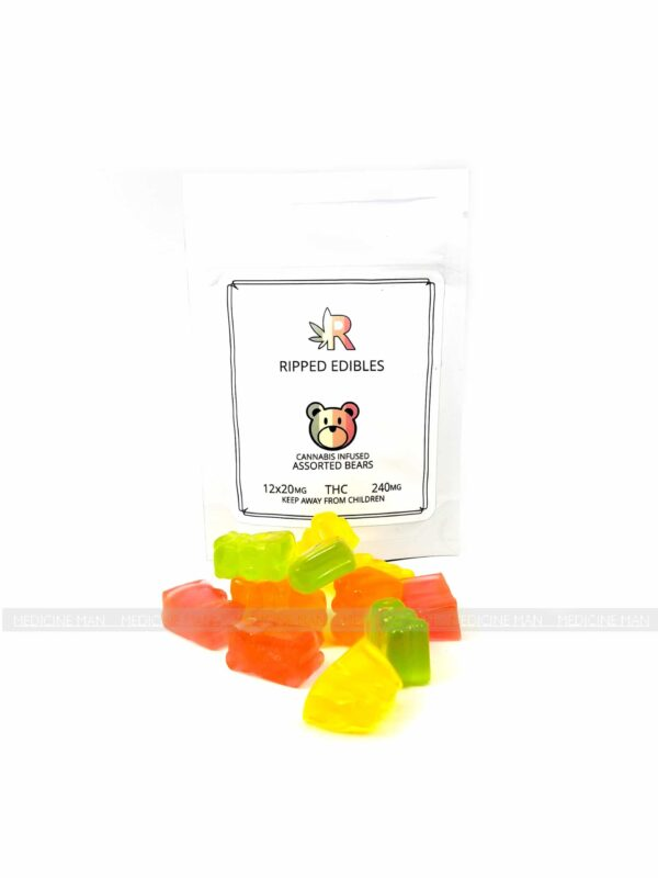 Assorted Gummy Bears 240mg Ripped Edibles